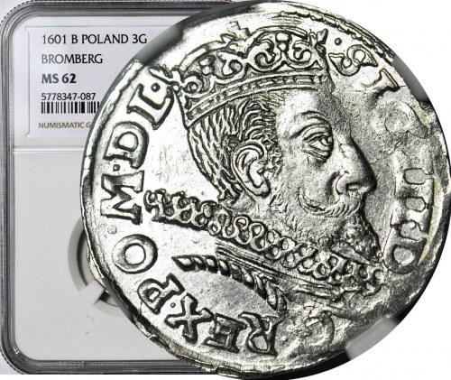 Zygmunt III Waza, Trojak Poznań 1601, menniczy