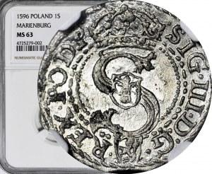 Zygmunt III Waza, Szeląg 1596 Malbork
