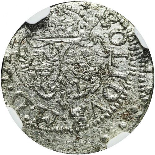 RRR-, Zygmunt III Waza, Szeląg 1617, Wilno, pełna data, tarcze wygięte, R7