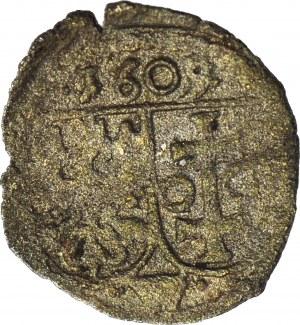 R-, Zygmunt III Waza, Denar 1609, Wschowa, kropki po bokach W, R5