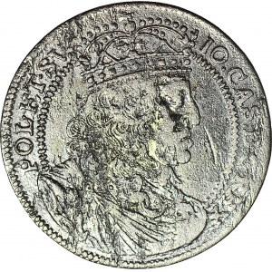 RR-, Jan II Kazimierz, Szóstak 1658, data w otoku, R5