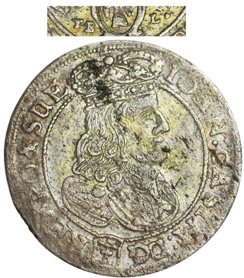 RRR-, Jan II Kazimierz, Szóstak 1667 TB-L, Bydgoszcz, BŁĄD TBL zamiast TLB