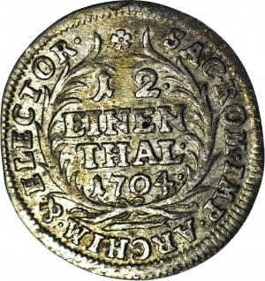 August II Mocny, Dwugrosz 1/12 talara 1704 EPH, Lipsk, piękny
