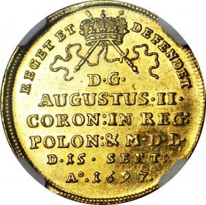 August II Mocny, Dwudukat koronacyjny 1697, Drezno, menniczy