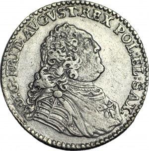 August III Sas, 1/6 talara 1763 FwoF, Drezno, ładne