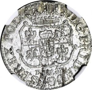 August III Sas, 1/24 talara 1755 FwoF, mennicze, rzadszy rocznik
