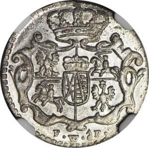 August III Sas, 1/48 talara 1756, Drezno, oF, mennicze