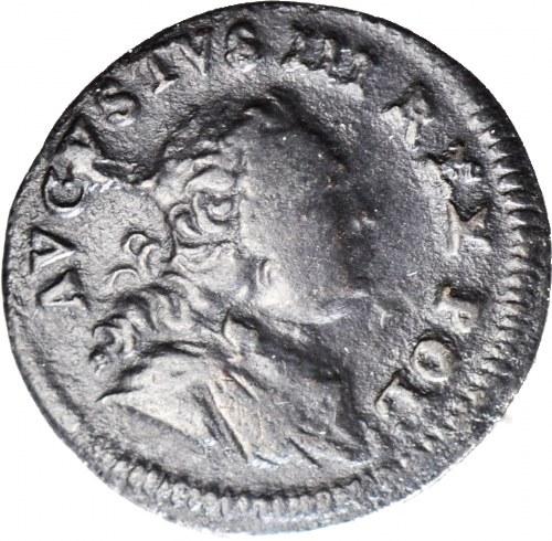 RRR-, August III Sas, Szeląg 1751 S, szeroka korona