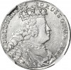 RR-, Naśladownictwo pruskie orta lipskiego Augusta III, 18 krajcarów Wrocław 1755