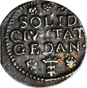 August III Sas, Szeląg 1754, Gdańsk