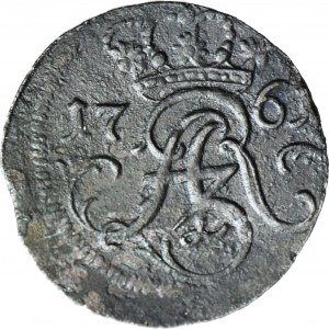 R-, August III, Szeląg 1761 Elbląg, R3