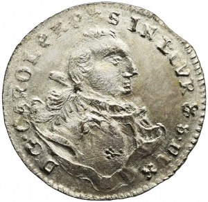 R-, Kurlandia, Karol Krystian Saski, Grosz 1762, Mitawa, menniczy