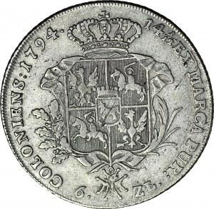 Stanisław A. Poniatowski, Talar 1794