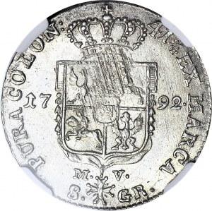 Stanisław A. Poniatowski, Dwuzłotówka 1792, MV