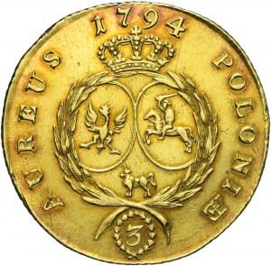 RR-, Stanisław .A.Poniatowski, 3 dukaty (stanislaus d'or) 1794, nakład 621 szt.