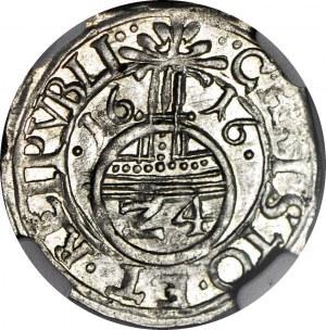 Pomorze, Księstwo Szczecińskie, Filip II, Grosz 1616, Szczecin, menniczy