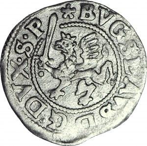 RR-, Pomorze, Księstwo Szczecińskie, Bogusław XIV, Podwójny Szeląg 1629, Szczecin, R4