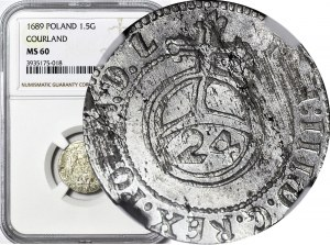 RR-, Fryderyk Kazimierz Kettler, Półtorak 1689, Mitawa, R6