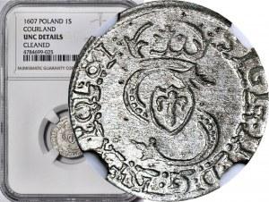 Kurlandia, Fryderyk i Wilhelm Kettler, Szeląg 1607, Mitawa, R4