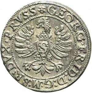Lenne Prusy Książęce, Jerzy Fryderyk von Ansbach, Grosz 1595, Królewiec