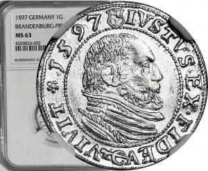 Lenne Prusy Książęce, Jerzy Fryderyk von Ansbach, Grosz 1597, Królewiec