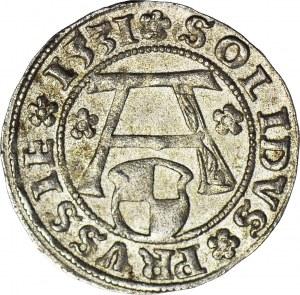 Lenne Prusy Książęce, Albrecht Hohenzollern, Szeląg 1531, Królewiec, piękny