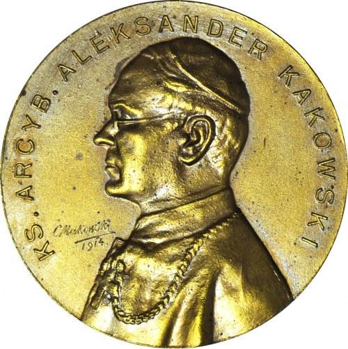 R-, Medal, ks. abp Aleksander Kakowski 1913, MENNICZY