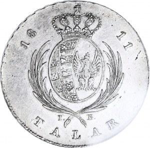 Księstwo Warszawskie, Talar 1811 IB, Warszawa, piękny, najniższy nakład (4.488 szt.)