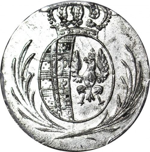Księstwo Warszawskie, 5 groszy 1811 IS, przebite na 1/24 talara, piękne