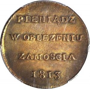 RR-, Oblężenie Zamościa, 6 groszy 1813, piękny