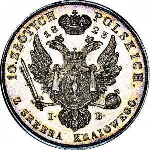 RR-, Królestwo Polskie, Aleksander I, 10 złotych 1823, Warszawa, ex. KAROLKIEWICZ, PROOFLIKE
