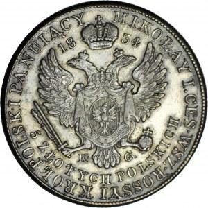 RR-, Królestwo Polskie, Aleksander I, 5 złotych 1834 K-G, bardzo rzadkie