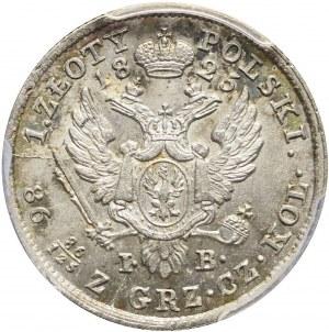 RR-, Królestwo Polskie, Aleksander I, 1 złoty 1825, mennicza, bardzo rzadka