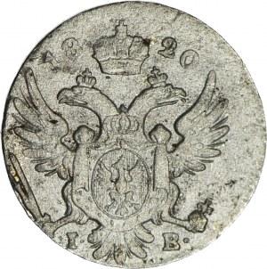 R-, Królestwo Polskie, 5 groszy 1820, b. rzadki rocznik, ładne