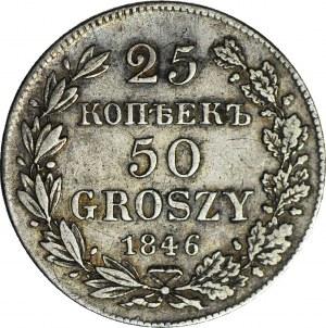 Zabór Rosyjski, 50 groszy = 25 kopiejek, 1846, Warszawa