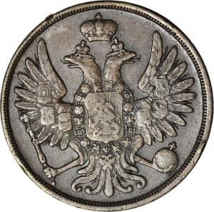Zabór Rosyjski, 2 Kopiejki 1855 BM Warszawa, piękne
