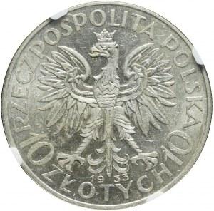 10 złotych 1933, Głowa, bardzo ładne