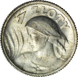 1 złoty 1924, Żniwiarka, róg i pochodnia (Paryż), mennicza