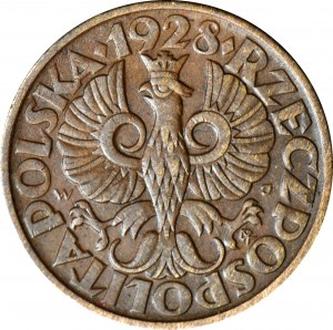 5 groszy 1928, piękne