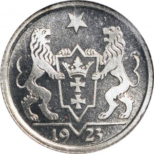 R-, WMG 1 gulden 1923, STEMPEL LUSTRZANY, ex. KAROLKIEWICZ