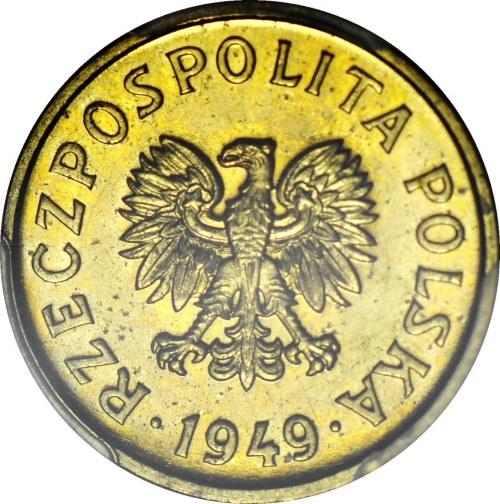 RR-, 20 groszy 1949, PRÓBA, MOSIĄDZ, nakład 100szt., rzadkość, c.a.