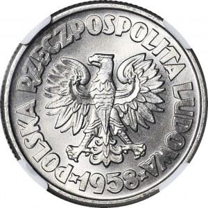 5 złotych 1958, Waryński, PRÓBA, nikiel, WYŚMIENITY
