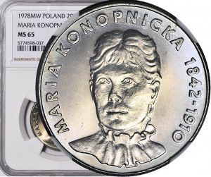 20 złotych 1978, Maria Konopnicka, mennicza