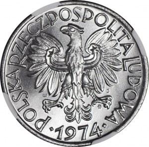 5 złotych 1974, Rybak, menniczy
