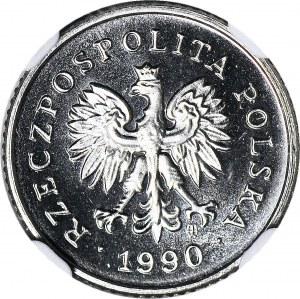 2 grosze 1990, PRÓBA NIKIEL