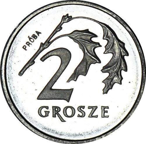 2 grosze 1990, PRÓBA, nikiel