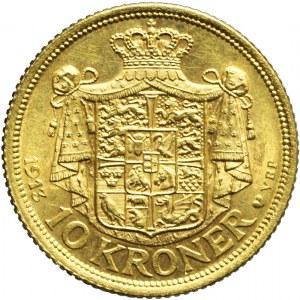 Dania, 10 koron 1913, Christian X