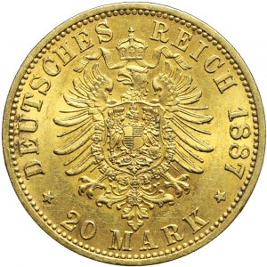Niemcy, Prusy, 20 marek 1887, Wilhelm I, Berlin