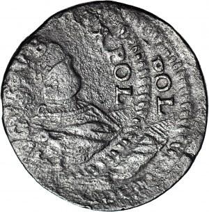 R-, August III Sas, Grosz 1754 H, podwójne bicie