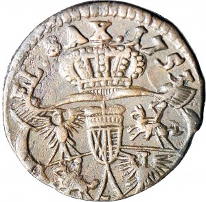 R-, August III Sas, Szeląg 1753, H